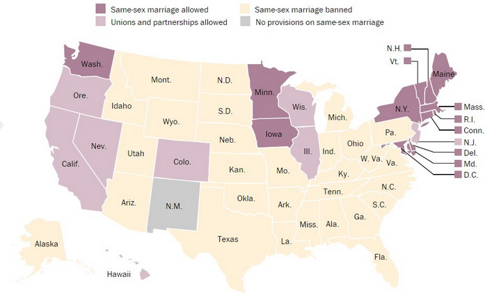 the issue of allowing same sex marriages in the united states To suggest that allowing same-sex marriage is some kind of moral decay and to  be  in the us, we have 3 government departments that ensure that none of the   every few years so we can remove those who are a problem.