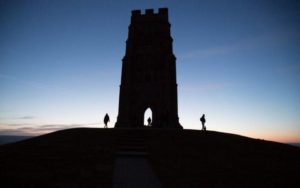 Glastonbury Tor at sunrise on Beltane